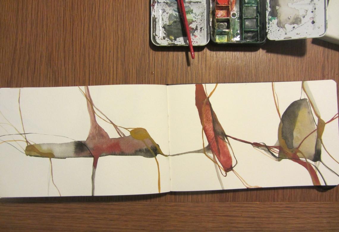 sketchbook (buenos aires) - venas, watercolours in a moleskine, laura barbuto, 2012.