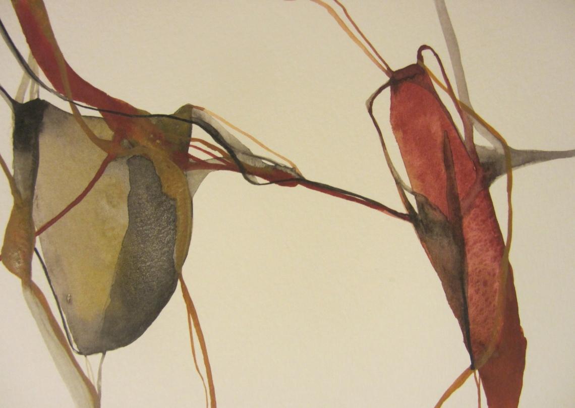sketchbook (buenos aires) - venas, watercolours in a moleskine, laura barbuto 2012.