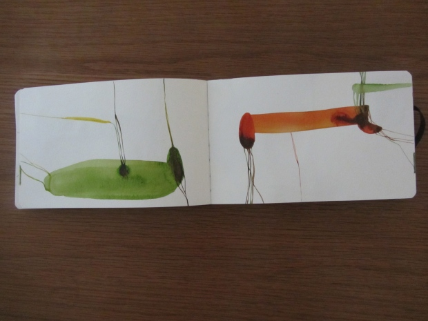 sketchbook (buenos aires), watercolours in a moleskine, laura barbuto, 2012.