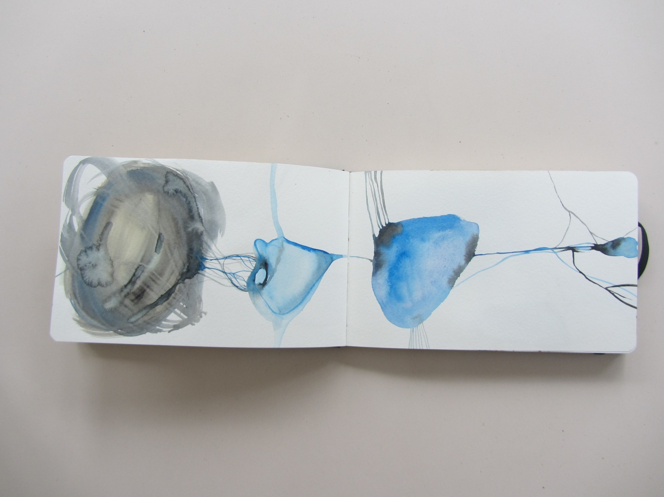 sketchbook (buenos aires), watercolours, laura barbuto, 2012.