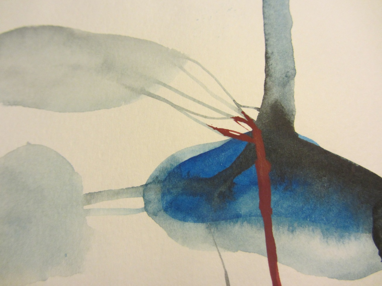 sketchbook (buenos aires) - nudos, watercolours in a moleskine, laura barbuto, 2012.