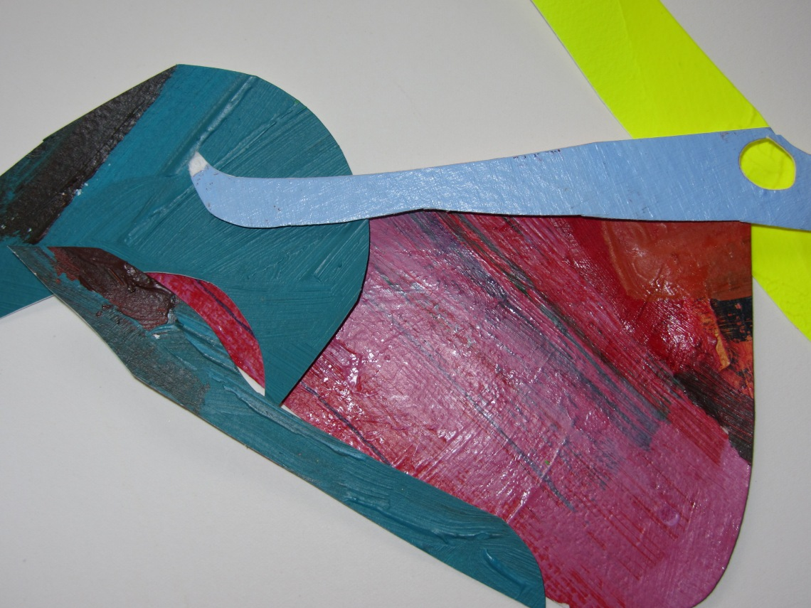 the way they occupy a space, acrylics on paper, cutting ups, laura barbuto, 2012-2013.