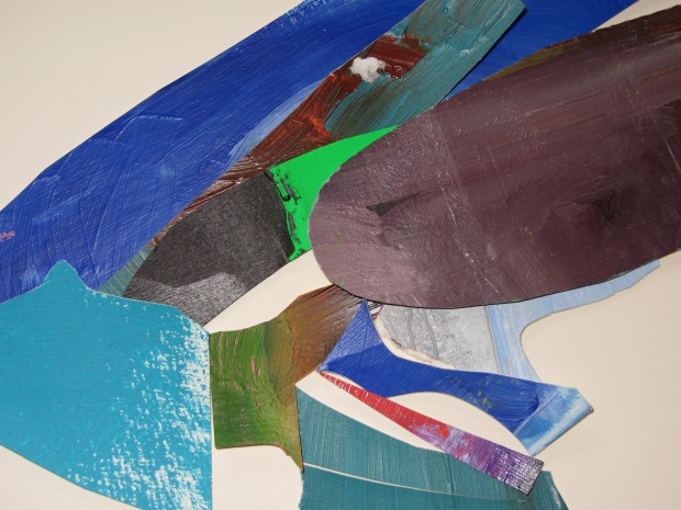 the way they occupy a space (occupied), acrylics on paper, cutting ups, laura barbuto, 2012-2013.