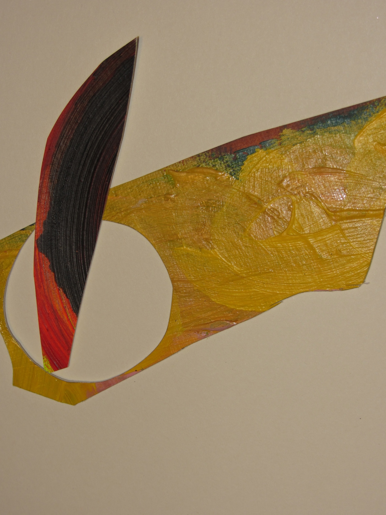 the way they occupy a space (inside-outside), acrylics con paper, cutting ups, laura barbuto, 2012-2013