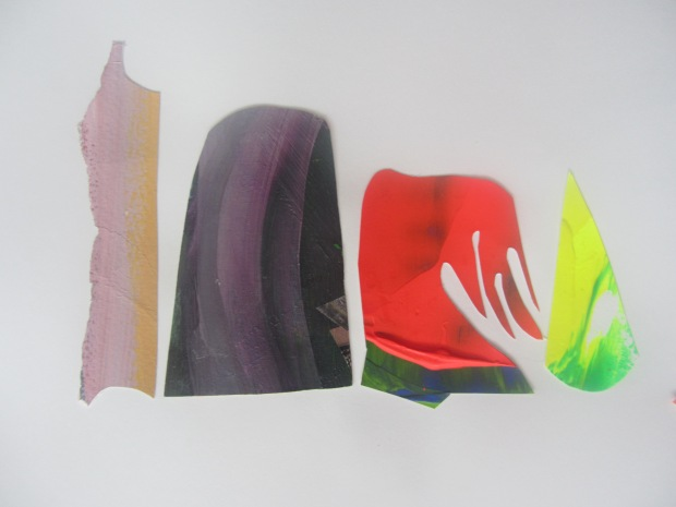 THe way they occupy a space, detail, acrylics on paper cut-outs, 59,4 x 84,1 cm, 2013.