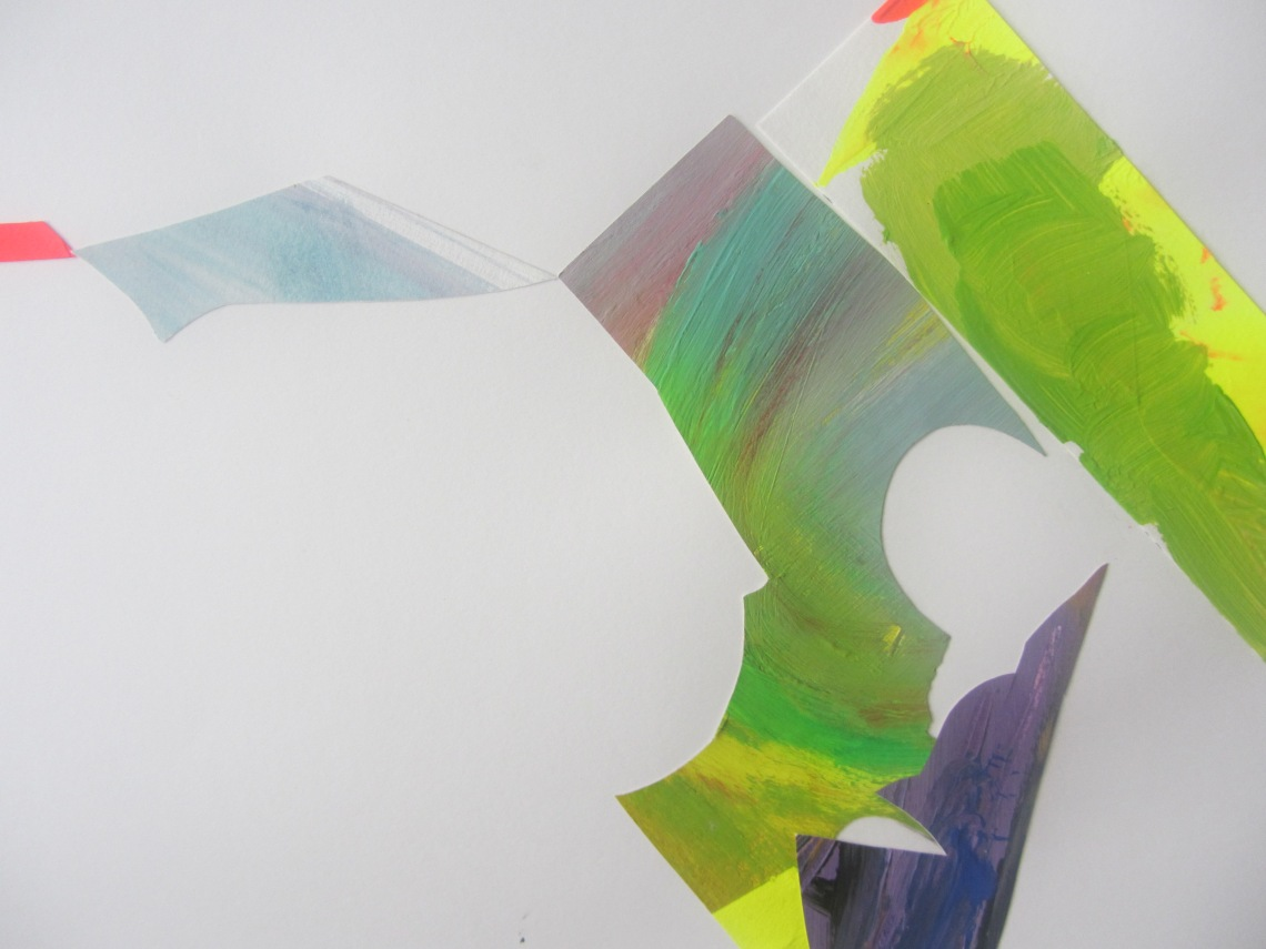 The way they occupy a space, detail, Laura Barbuto, acrylics on paper cut outs, 2013.