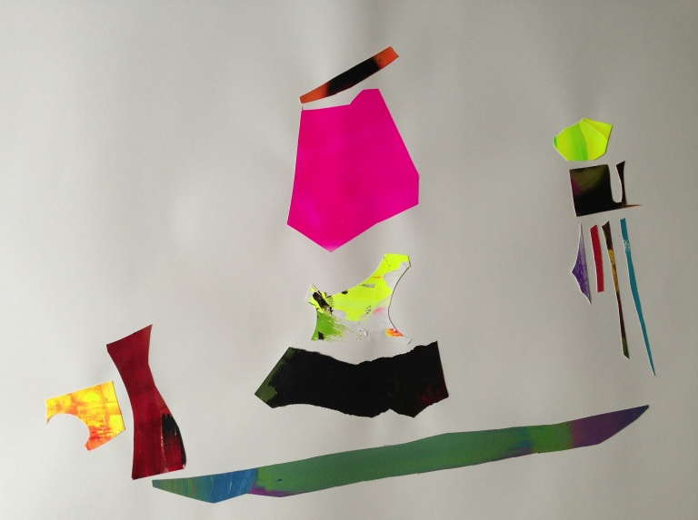 the way we occupy a space VII, acrylics on paper cut-outs, Laura Barbuto, 2013.