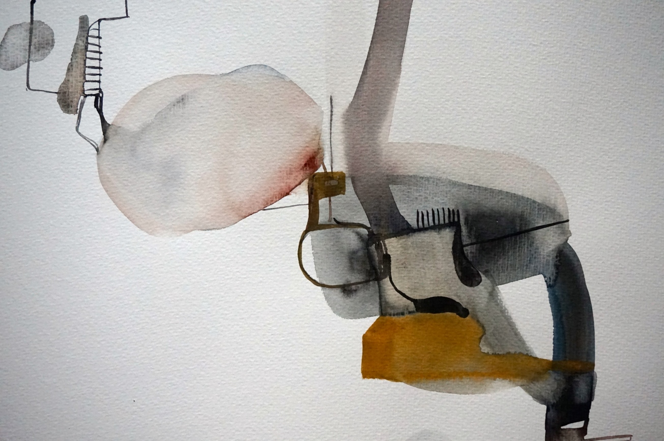 Endeless Senseless 2, watercolours on paper, 30 x 40 cm, Laura Barbuto, 2014.
