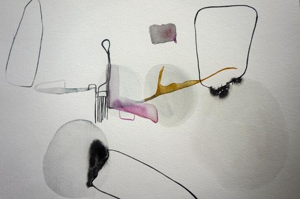 Endless Senseless 5, watercolours on paper, Laura Barbuto, 2014.