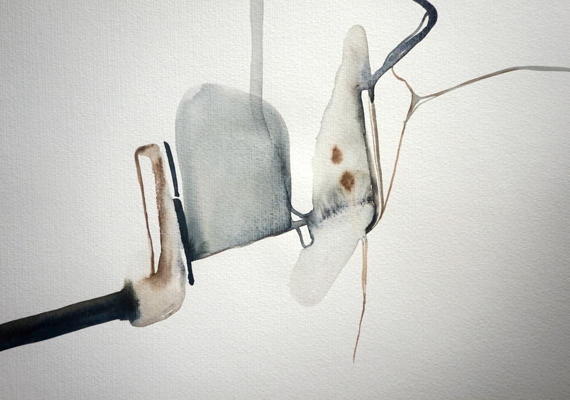 Endless Senseless 4, watercolours on paper, Laura Barbuto, 2014.