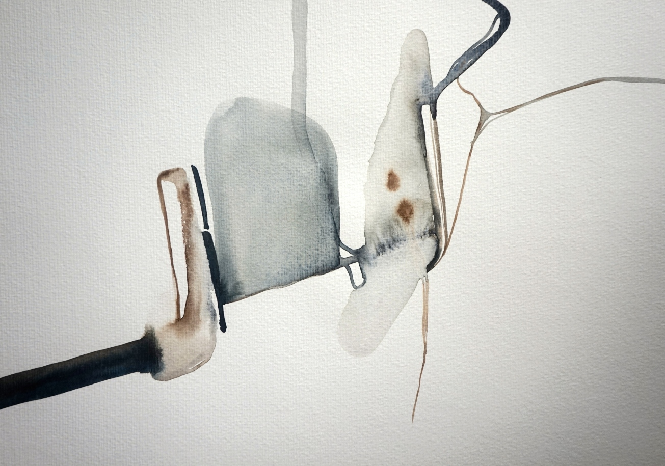 Endless Senseless 4, watercolours on paper, Laura Barbuto, 2014.