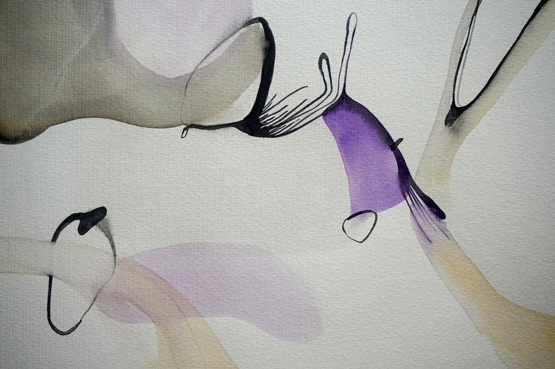 Endless Senseless 3, watercolours on paper, 30 x 40 cm, Laura Barbuto, 2014.