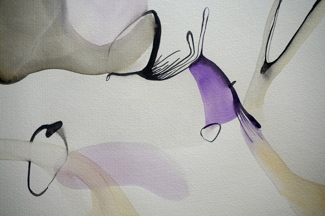 Endless Senseless 3, watercolours on paper, 30 x 40 cm, Laura Barbuto, 2014.