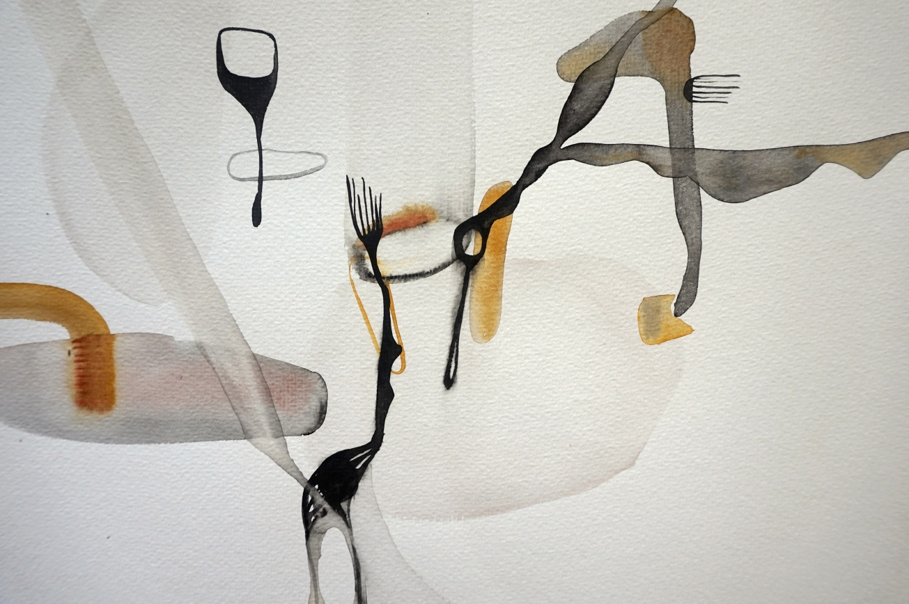 Endless Senseless 6, watercolours con paper, Laura Barbuto, 2014.