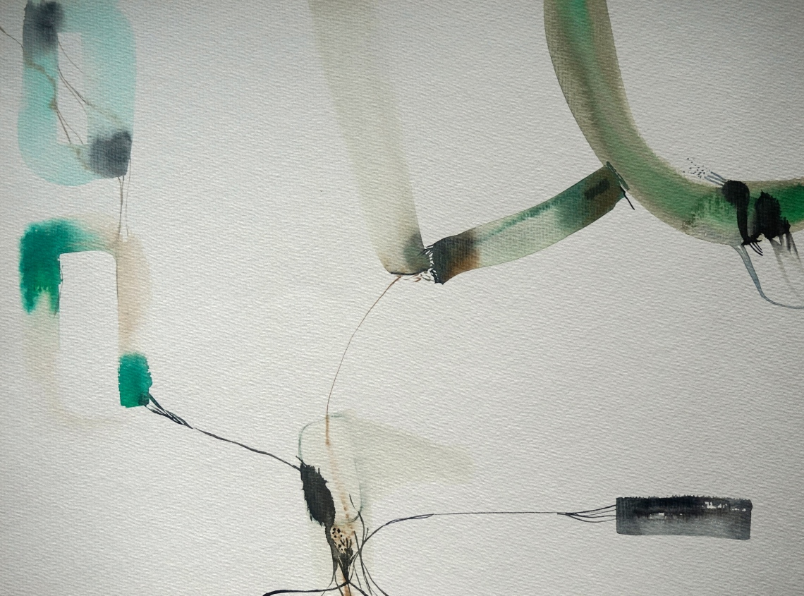 Wired 12, watercolours, 30 x 40 cm, Laura Barbuto, 2014.
