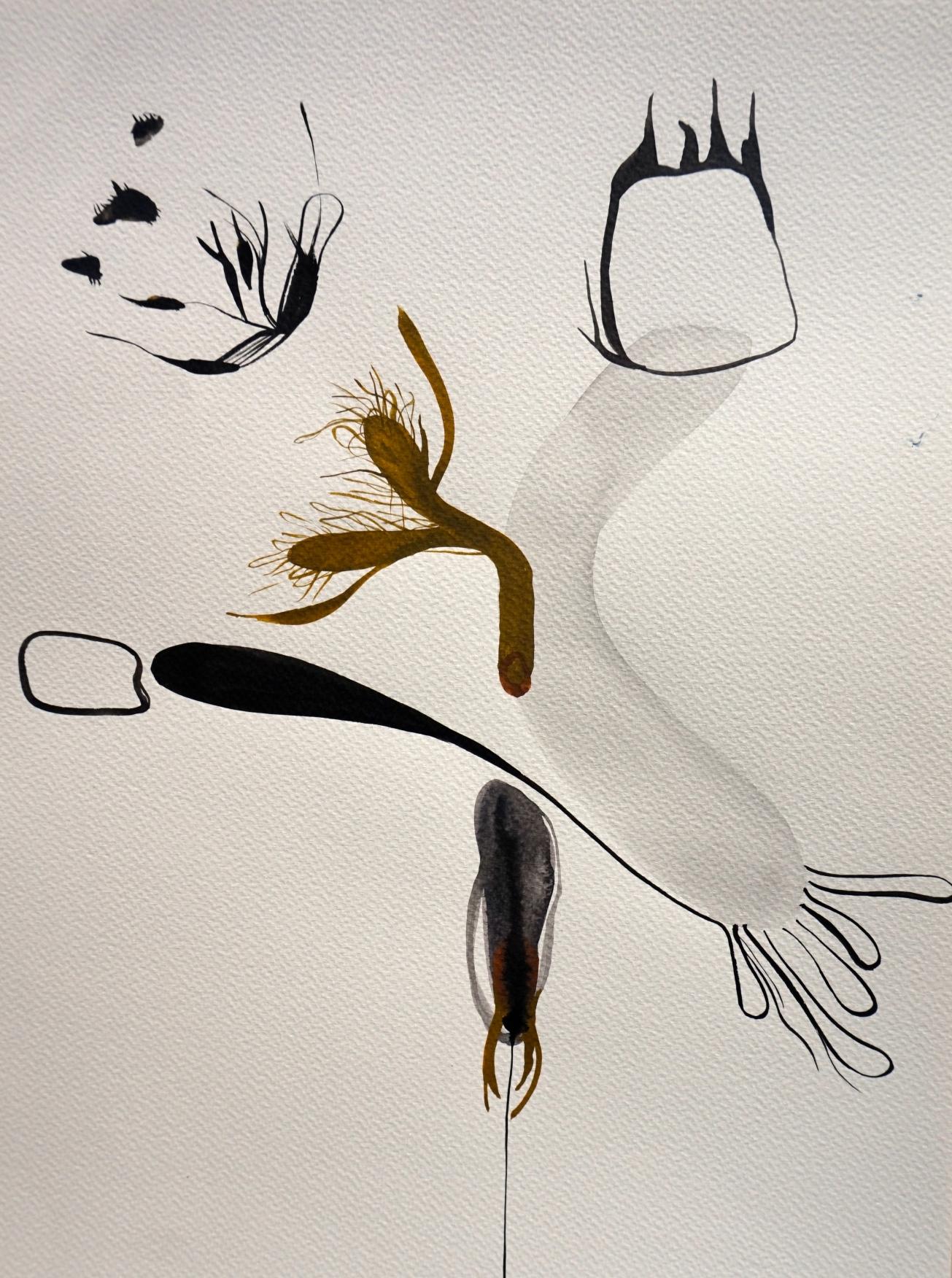 Nasty Little Creatures 2, watercolours, 30 x 40 cm, Laura Barbuto, 2014.