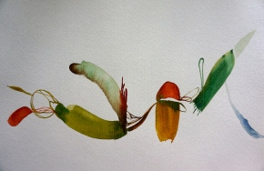 Verde 2, watercolours, 30 x 40 cm, Laura Barbuto, 2013.