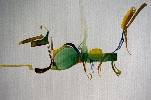 Verde, watercolours, 30 x 40 cm, Laura Barbuto, 2013.
