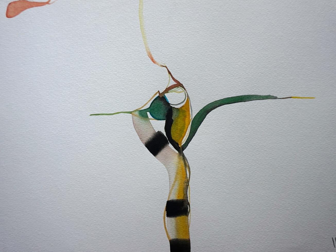 Verde 3, watercolours, 30 x 40 cm, Laura Barbuto, 2013.