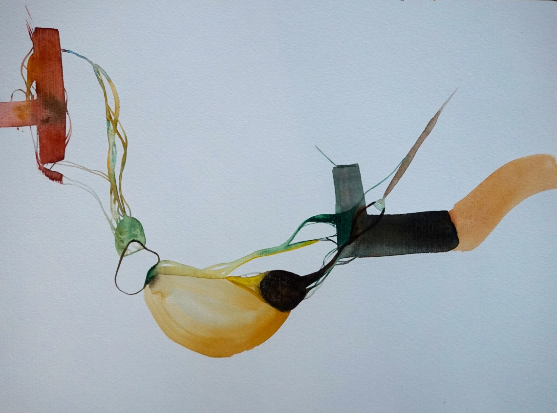 Verde 4 (yendo), watercolours, 30x40 cm, Laura Barbuto, 2013.